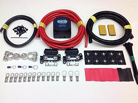 2m professionnel Cargo Split Kit de charge 12V 140A Relais 110Amp Câble sck312C