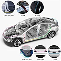 walmeck- car seal strip,11pcs Universal Auto Car Door Seal Kit Adhesive Soundproof Strip Weather Stripping Wind Noise Reduction Kit Weather Draft Seal Strip