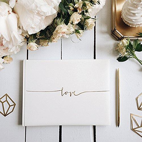 "Gästebuch ""love"" gold"