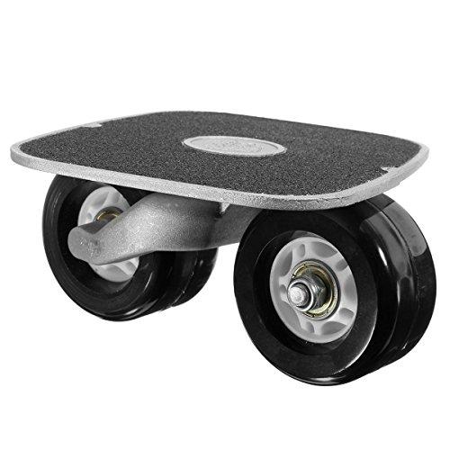 Drift Skates ,CAMTOA Außen Aluminium Freeline Drift Skates Skating Flashing mit vier Räder einem Schraubenschlüssel Recht&links Schwarz -