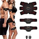 Sakobs - Dispositivo di stimolazione elettrica muscolare SEM, allenamento dei muscoli, elettrostimolazione, bruciagrassi per uomini e donne.