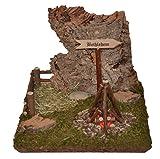 Bethlehem Schild mit Korkfelsen und Lagerfeuer Krippe Krippen-Zubehör