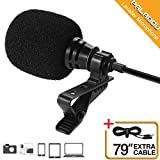 Paladou Lavalier Lapel Microphone Condenser Cell Phone 3.5 mm Mic, Pro Best