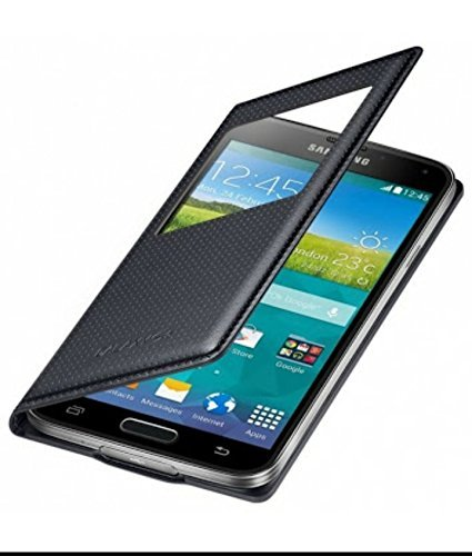 Samsung Galaxy S5 Black Flip Cover  available at amazon for Rs.199