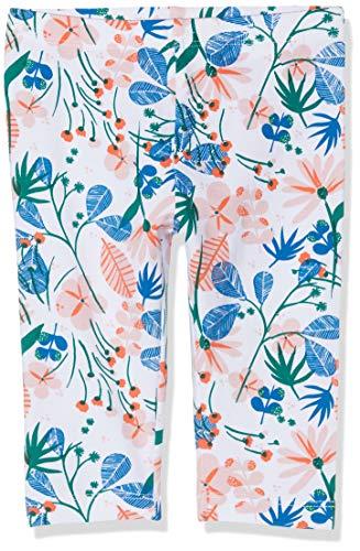 NAME IT Baby-Mädchen NMFVIVIAN AOP Capri H Leggings, Blau (Dark Sapphire Flowers), (Herstellergröße: 92)