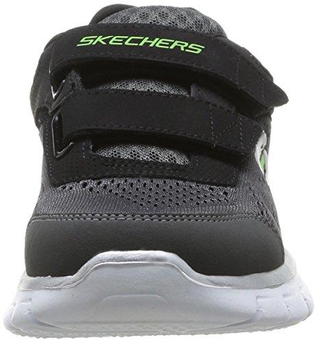 Skechers SYNERGY, Low-Top Sneaker bambino Nero (Schwarz (BKCC))