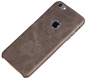 Kapa AT13576 USAMS BOB Series Soft PU Leather Back Case Cover for Apple iPhone 6 6S,(Brown)