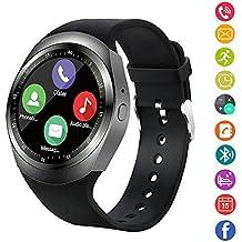 Reloj inteligente, IDEALBY reloj con pantalla táctil Bluetooth Smartwatch con ranura para tarjeta SIM TF, podómetro, monitor de sueño para iPhone X / 8 / 8P / 7 / 7p, Samsung, Sony, Huawei, LG,Xiaomi(Plata)