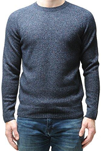 Closed Herren Feinstrick-Pullover mit Struktur Blaugrau, Größe L