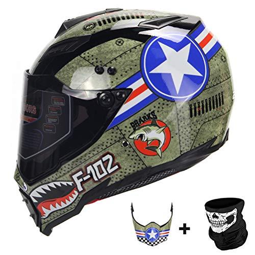 Männer Vollgesichts Motorradhelm Mesh Baumwollfutter Stoßfest Frauen Motocross Helme Anti Fog Suanproof Motorrad Racing Sicherheitskappen - Motorrad Lazer Helm