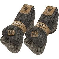 BRUBAKER 4 paia di calzini caldi e morbidi , in lana Alpaca dei grigi EU 39-42