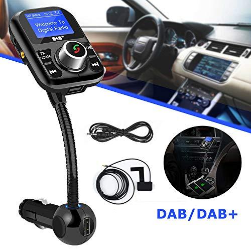 LZDseller01 Bluetooth FM Transmitter, USB-Stick-Adapter für Autorundfunk, FM-Tuner für die Digitale Auto-DAB-Radioübertragung, MP3-Player mit TF-Karte