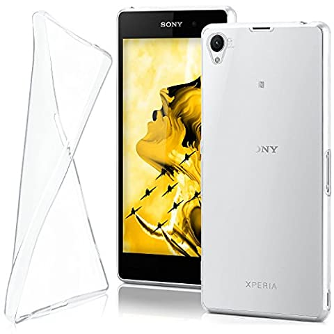Housse de protection OneFlow pour Sony Xperia Z1 housse silicone Case en TPU de 0,7mm | Accessoires Cover pour la protection du téléphone portable | Housse téléphone portable Bumper pochette transparente en CRYSTAL-CLEAR