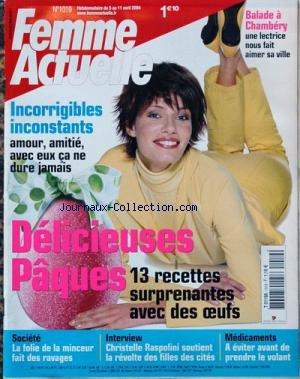 FEMME ACTUELLE [No 1019] du 05/04/2004