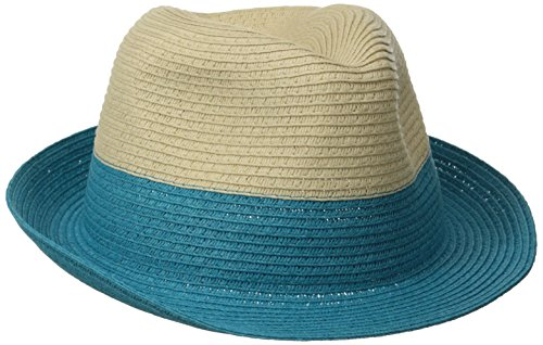 physician-endorsed-womens-jackie-g-small-packable-fedora-hat-natural-turquoise-one-size
