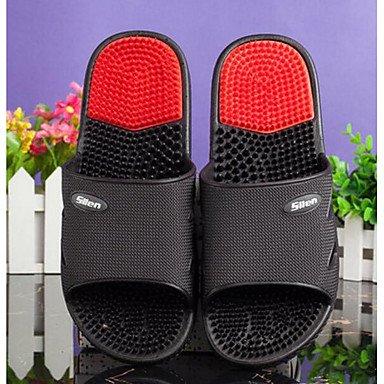 Les femme's Chaussons &AMP; Tongs PVC Slingback occasionnels d'été Talon plat rouge rose bleu noir Télévision US9 / EU40 / UK7 / CN41