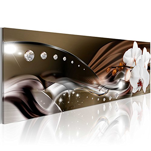 murando - Acrylglasbild Blumen120x40 cm - Glasbilder - Wandbilder XXL - Wandbild - Bilder - Orchidee Diamant b-A-0072-k-b