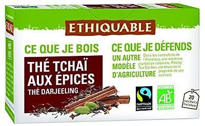 Ethiquable Thé Tchaïa aux Épices Darjeeling Bio et Équitable 20 Sachets Max Havelaar parent