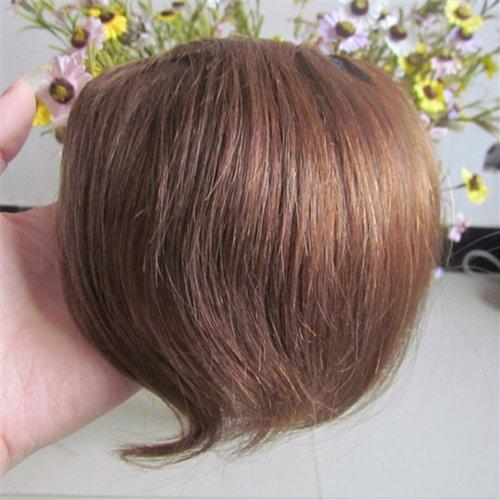20,3 cm Marron clair (# 06) Vrais Cheveux Humains Cheveux Fashion avant Neat Bang franges One cheveux