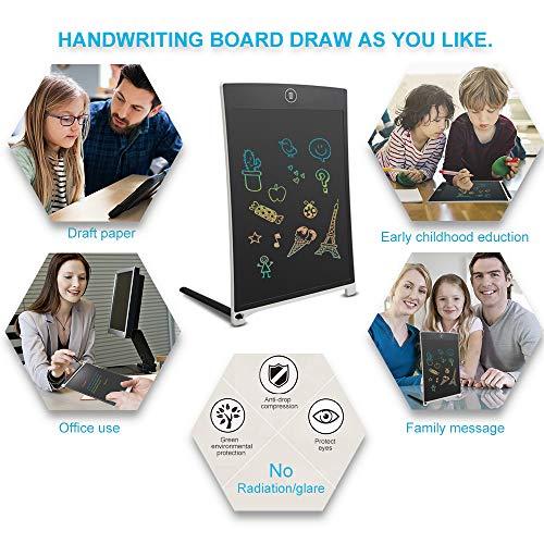 NEWYES Tableta de Escritura LCD a Color -  Tableta electrónica de Dibujo sin Papel 8, 5 Pulgadas para niños Trabajar Familia(Blanco)