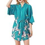DAY.LIN Sleepwear Femmes Sexy Silk Soie Kimono Sling Pyjamas Chemise De Nuit...