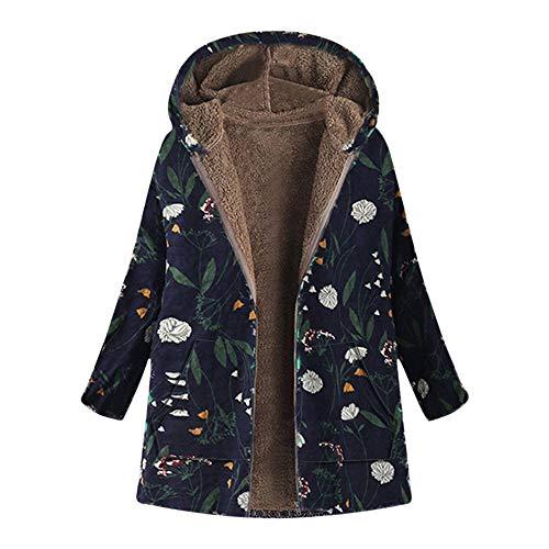 Bazhahei giacca donna,moda stampa floreale giacca con cappuccio,cappotto donna invernale elegante tumblr cappotto eleganti parka giacche giubbotto donna trench donna manica lunga maglione maglieria