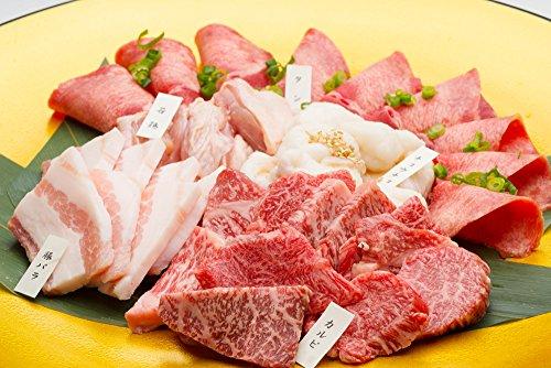 ★北陸新幹線開通記念セット★A5ランク黒毛和牛カルビが入った焼肉5種盛り2~3人前・焼肉やバーベキューに!