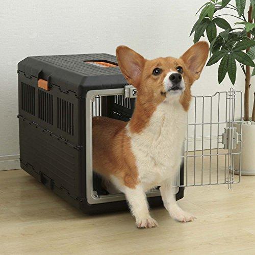 IRIS, faltbare Transportbox für Hunde und Katzen FC-670, Kunststoff, schwarz, 68,6 x 40,3 x 47,8 cm - 4