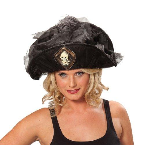 Piratin Hut Karneval Zubehör zum Seeräuber Kostüm an Fasching