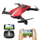 EACHINE E52 Dron Camara con 0.3MP HD Cámara Dron Plegable (Rojo)…