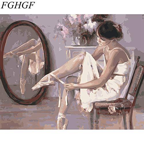 baodanla No Frame 裱 Frame Girl Modern Wall Artist residenza Decoration Han A1 40X60CM