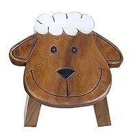 Children Sheep Stool Kids Handmade Animal Wooden Stool Seat Step Fair Trade Thailand Gift