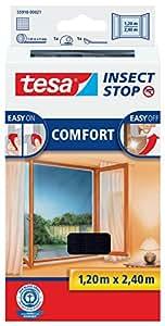 tesa insect stop comfort fliegengitter f r bodentiefe fenster insektenschutz selbstklebend. Black Bedroom Furniture Sets. Home Design Ideas