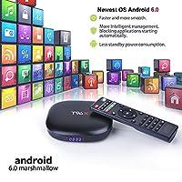 Blueshadow Smart Mini TV Box Android - 6.0 Box with Quad Core s905x Amlogic Flash Supporting 3D 4K Full HD Wifi Media Player Google Internet TV(1g+8g)