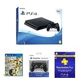 PlayStation 4 Slim (PS4) - Consola de 500 GB + FIFA 17 + DualShock 4 Negro V2 + PSN Plus Tarjeta 90 Días