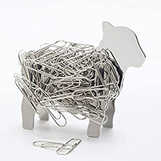 Lamb Ram Sheep Design Stainless Steel Metal Magnetic DIY Binder Paper Clip Holder