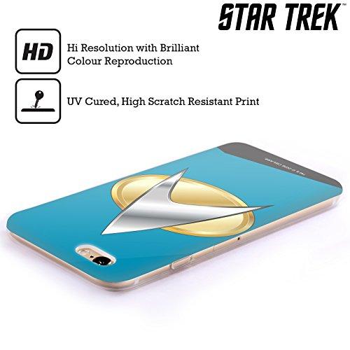 Offizielle Star Trek Captain Uniformen Und Plaketten TNG Soft Gel Hülle für Apple iPhone 6 / 6s Wissenschaften