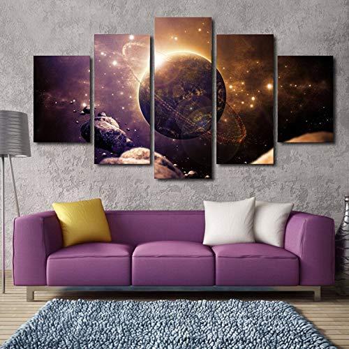mmwin HD Impreso Planeta del Universo Impresión en Lienzo decoración de la habitación impresión póster Cuadro Lienzo