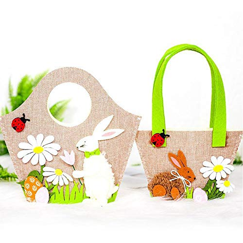 Quiet.T Borsetta Coniglietto di Uova di Pasqua, Borsa di Pasqua di Alta qualità per trasportare Uova Caramelle e Regali