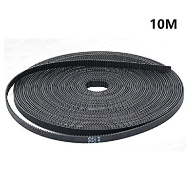 10 Meters GT2 Timing Belt, Width 6mm Rubber Opening Belt Fit for RepRap Mendel Rostock Prusa GT2-6mm Belt from KR