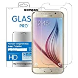 Novago Compatible avec Samsung Galaxy S6 Lot de 2 Films Protection en Verre trempé Transparent (Films Plus Petits Que l'écran)