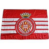 GIRONA FC Badgir Bandera, Blanco/Rojo, Talla Única