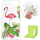 Galaxy A3 2016 Coque de Protection en TPU Silicone,Samsung Galaxy A3 Transparent Housse,Ekakashop Jolie Fleurs Flamingo Design Ultra Mince Crystal Clair Souple Gel Housse Coque Protecteur Back Cover Defender Flexible Souple Case Bumper avec Motif pour Samsung Galaxy A3 2016 + 1x cartes gratuites se tiennent (couleur aléatoire)