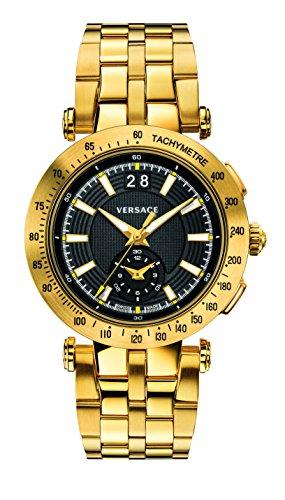 Versace Herren Analog Quarz Uhr mit Edelstahl Armband VAH070016