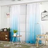Moginp Vorhänge, Home Vorhang Gradient Sheer CurtainsTüll Fenster Wohnzimme Kinderzimmer Dekro 1 Panel Stoff (C)