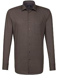 SEIDENSTICKER Herren Hemd Comfort Langarm Bügelleicht Businesshemd Kent-Kragen Kombimanschette weitenverstellbar