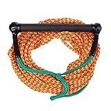 MagiDeal 23M 10mm Cuerda de Wakeboard de Esquí Acuático Con Mango de Agarre Correa de Esqui - Naranja verde