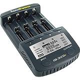 AccuPower IQ328+ Ladegerät für 18650/Li-Ion/Ni-MH/Ni-Cd Akkus mit Display, Entladefunktion, Testfunktion, vollautomatisch