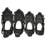 Alamor 24 Espigas Antideslizantes Espárragos Snow Ice Mud Crampones Cubrezapatos Botas Pinza para Zapatos S-XL = XL