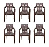 #6: Nilkamal Set of 6 Chairs (Weather Brown)